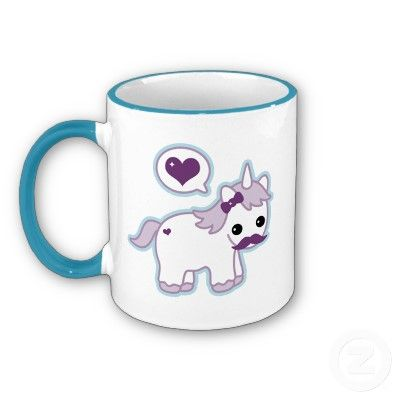 The gallery for --> Cute Unicorn With A Mustache