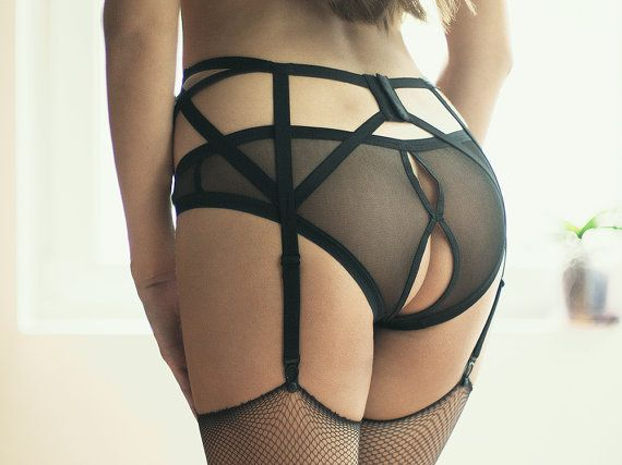 Open Back Panties, Sheer Lingerie Panties, Burlesque Lingerie, Pin Up Lingerie, Sexy Bottoms, Open Crotch Erotic Panties, Crotchless Panties