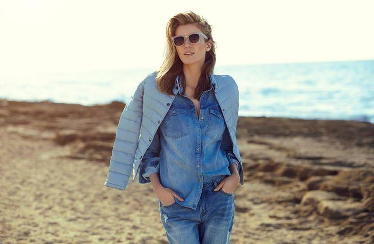 Love Denim! Jeansowa koszula i spodnie boyfriend - absolutny must have wiosennej kolekcji.