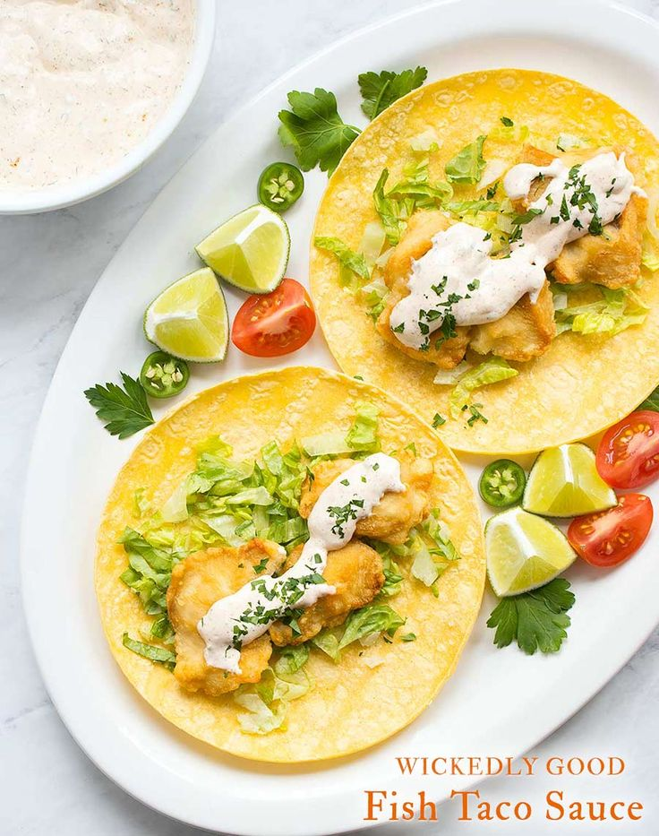 The 25 best sauce for fish tacos ideas on pinterest for Recipe for fish taco sauce