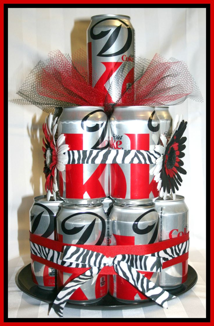 Diet Coke can cake | wreaths | Pinterest | Coke Cake, Diet Coke Cake ...