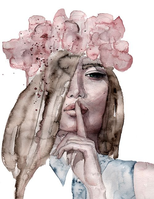 Lolita #illustration #painting #watercolor #fashion