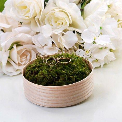 Boite d'alliance en bois avec son coussin d'alliance en mousse synthétique #mariageoriginal #mariage #wedding