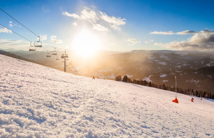 Aussicht auf die Karawanken und die Julischen Alpen