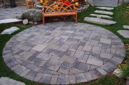 Perfect round patio
