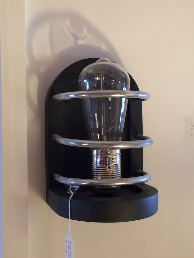 Detroit wall light by David hunt Matt black. With retro bulbs they are great to add some character to a room £70 @thelightcompany.co.uk