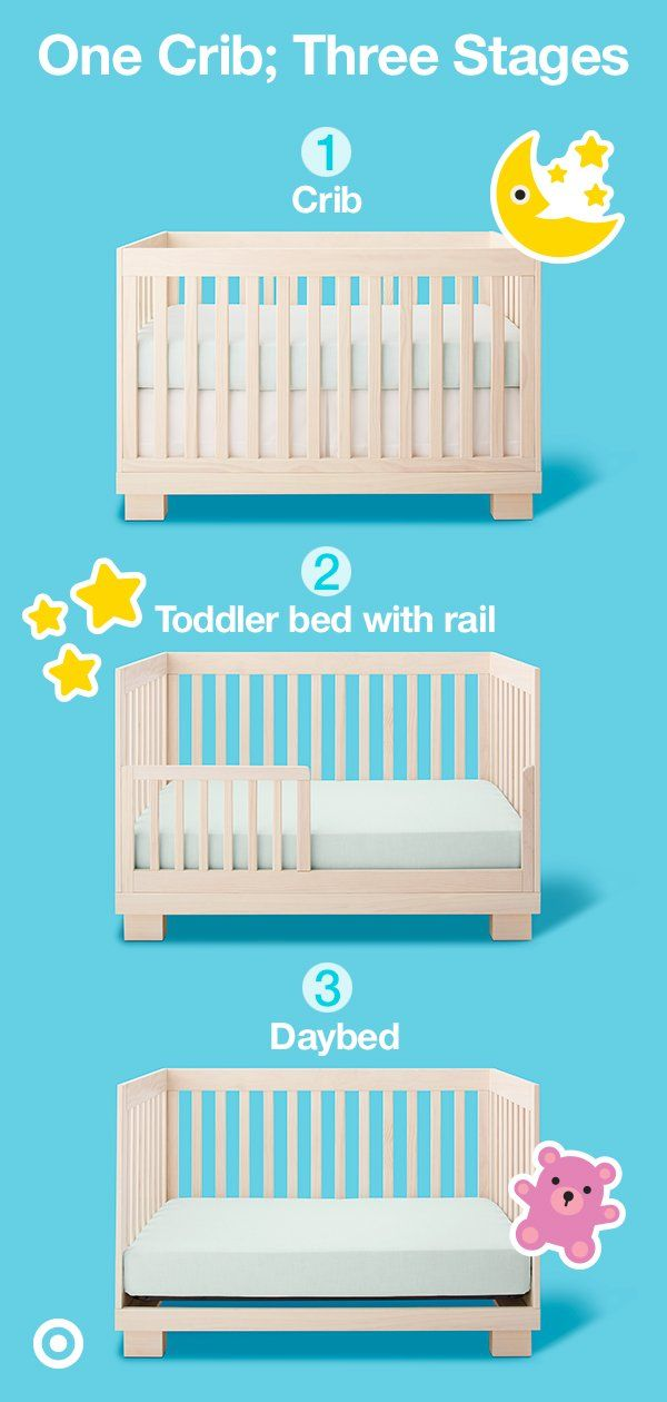 Sleek Sophisticated The Modern Babyletto Modo 3 In 1 Convertible Crib Stays Stylish For Years To Come Going From Crib T Modern Toddler Bed Baby Cribs Cribs