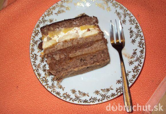 Čokoládovo orechová torta s parížskym krémom a tvarohovou plnkou