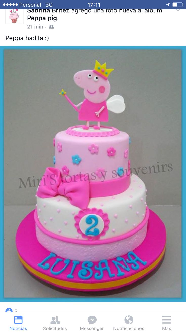 Pin By Madonna Remy On Cumple Oli 2 Peppa Pig Birthday Cake Peppa Pig Cake Pig Cake