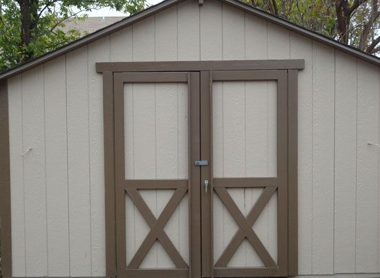 Shed door replacement rebuilt shed doors corner 1x4 39 s for Exterior shed doors design