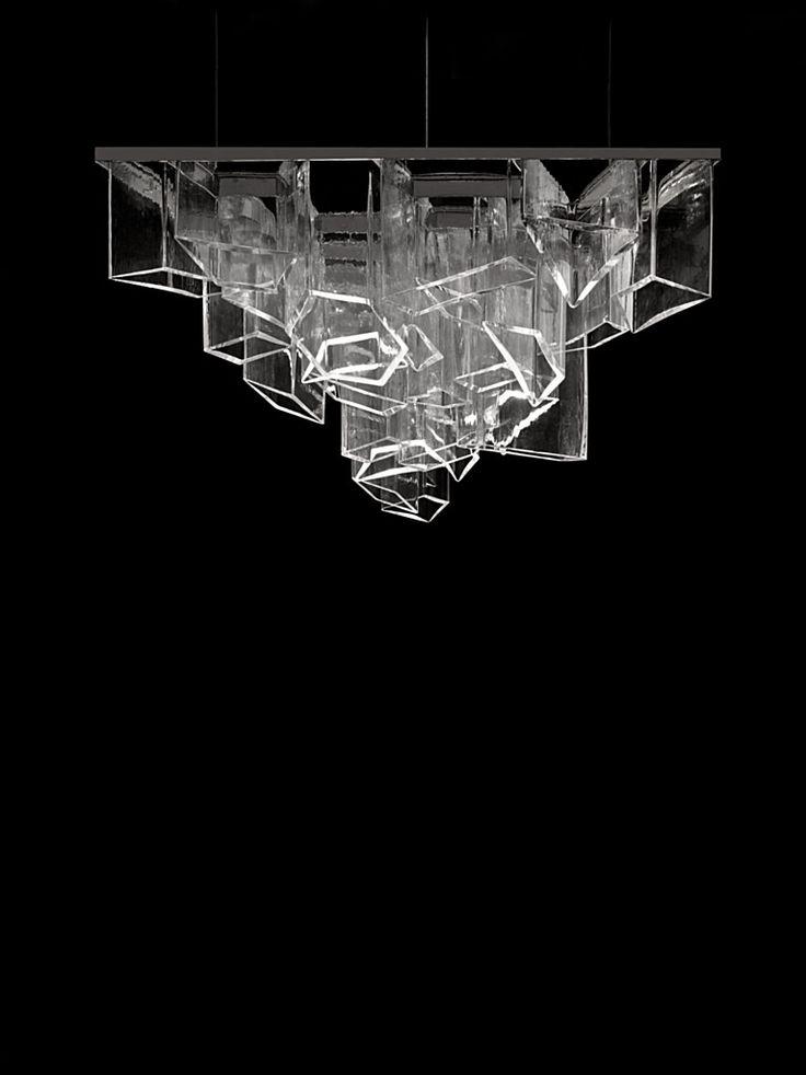 Ice chandelier by Libeskind Daniel - Lasvit salone del mobile 2014