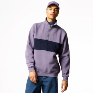 Zip Crew - Block Lilac/Navy