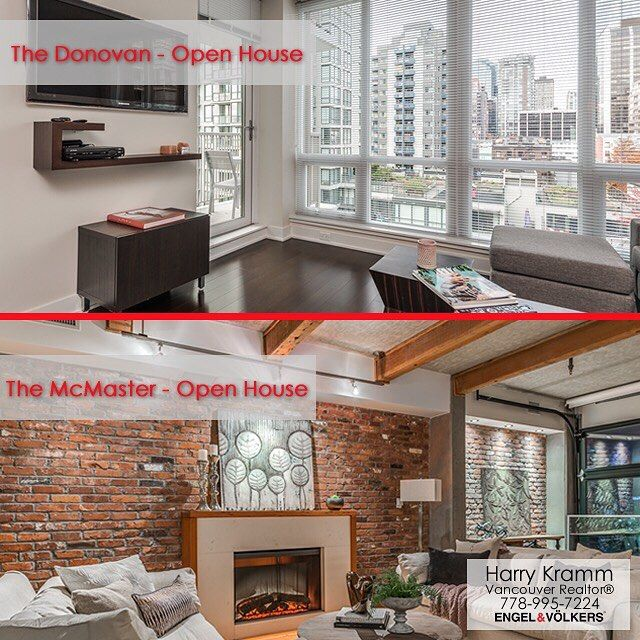 Open House weekend! I have two listings on Open House today and tomorrow - both from 2-4pm. . The Donovan - this listing is a large 1 bedroom and den/flex/office/bedroom priced at $888000 for 721sqft of air-conditioned space! Drop by and visit me there. . The McMaster - this listing is a large 2 bedroom character suite in a small exclusive building in the heart of Yaletown. Priced at $1590000 for 1328sqft of heritage charm! Graciously hosted by my colleague @barry.herman . . #vancityhype…