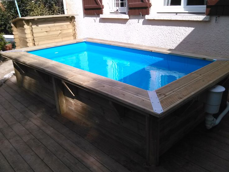 28 best images about pour la maison on pinterest piscine Piscine en bois rectangulaire