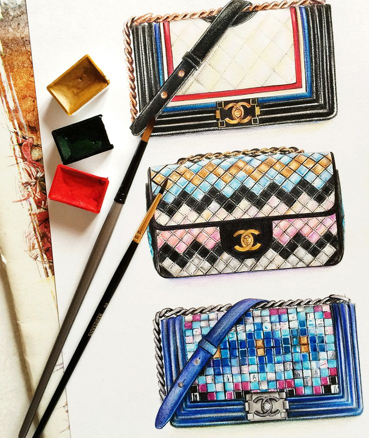 Chanel bags Fashion illustration l Doll Memories