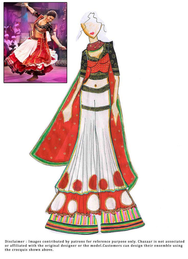 DIY Deepika Padukone White Sharara Suit