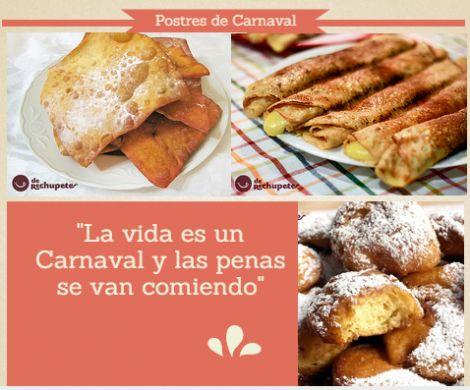 Postres de Carnaval. Recetas