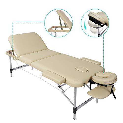 Lettino Da Massaggio Portatile Alluminio.Offerta Di Oggi Naipo Lettino Da Massaggio Pieghevole In 3 Sezioni