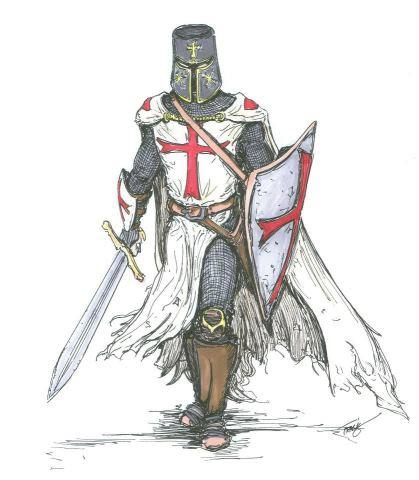 A templar knight from mideval times