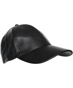 WASHED FAUX LEATHER CAP