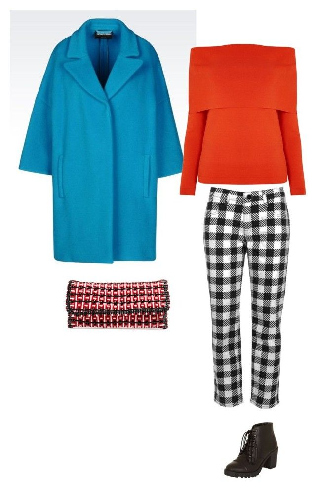 голубой-оранжевый by irina-shtyrova on Polyvore featuring мода, Warehouse, Victoria, Victoria Beckham, Dorothy Perkins and Balenciaga