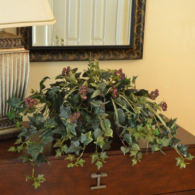 Mixed Ivy and Berry Silk Ledge Plant GR175 - Bring nature ...