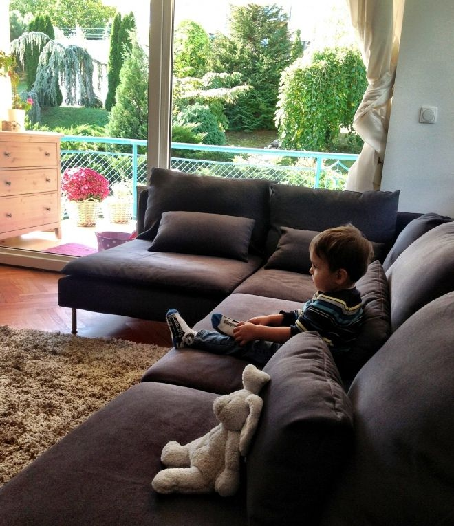 our grey ikea sderhamn sofa