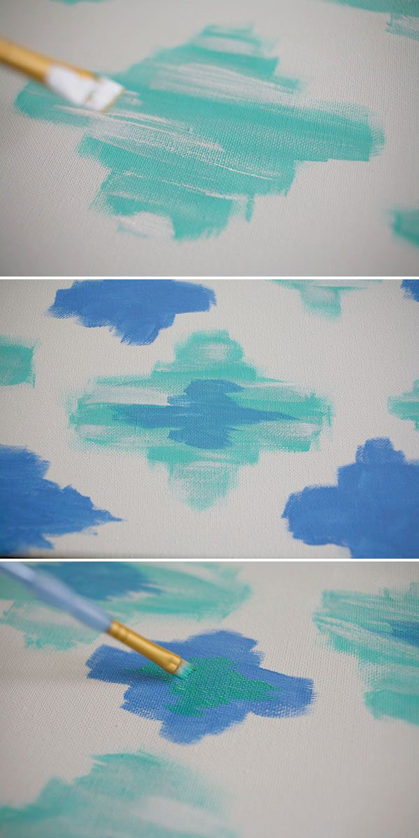 How to paint Ikat