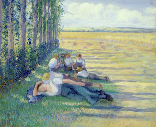 Le Repos des Moissonneurs, 1887 by Camille Pissarro - art print from King & McGaw