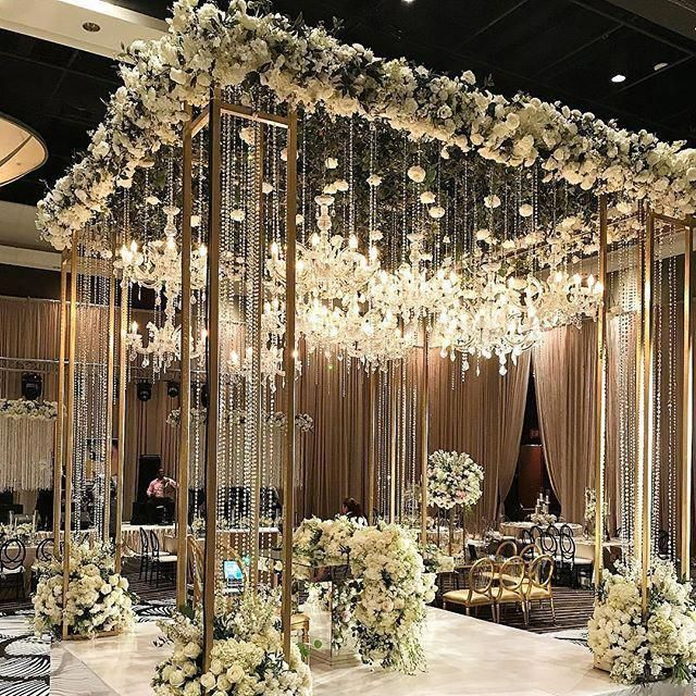 Ending 2017 with this ultra-classy and sophisticated #Mandap that any Maharani would love to have on her big day. 👑 Floral and Décor |… #luxuryw...