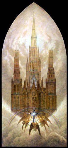 The Cathedral - Caspar David Friedrich