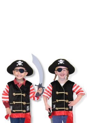 Melissa & Doug Boys' Pirate Role Play Costume Set - Multi - One Size