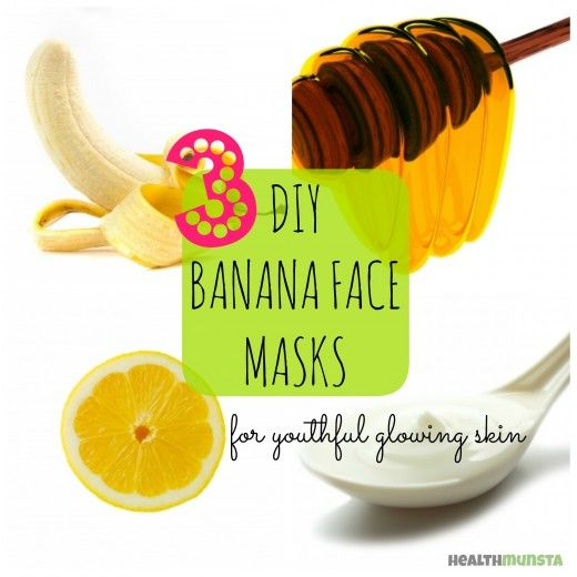 For glowing youthful skin, try this DIY Easy Banana Face Masks to make at home!