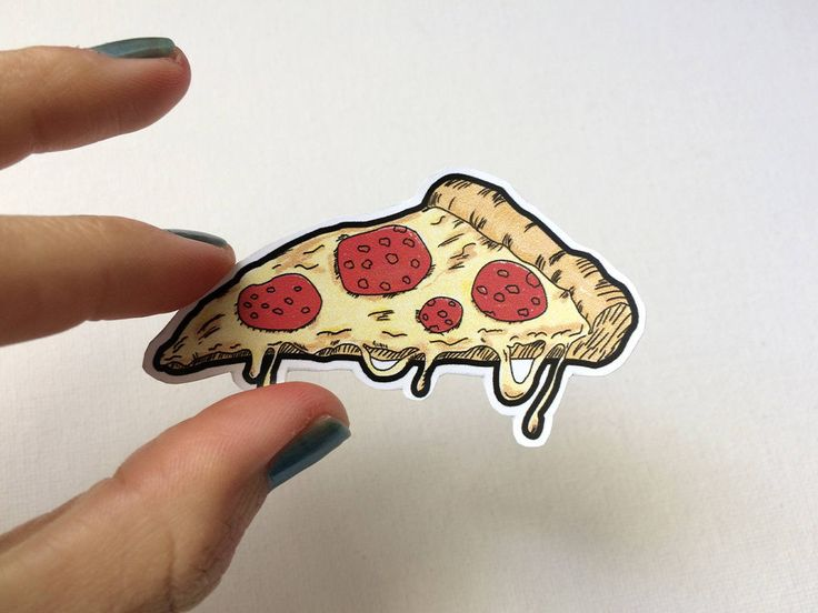 Pizza sticker pepperoni includes six 6 stickers laptop stickers vinyl stickers