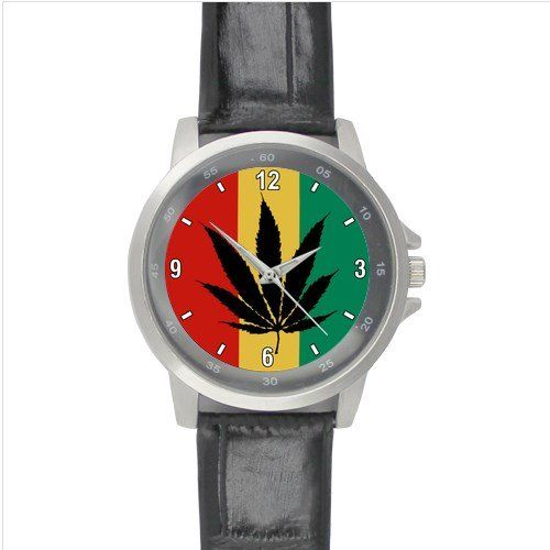 Rastamania Leather Sport Watch