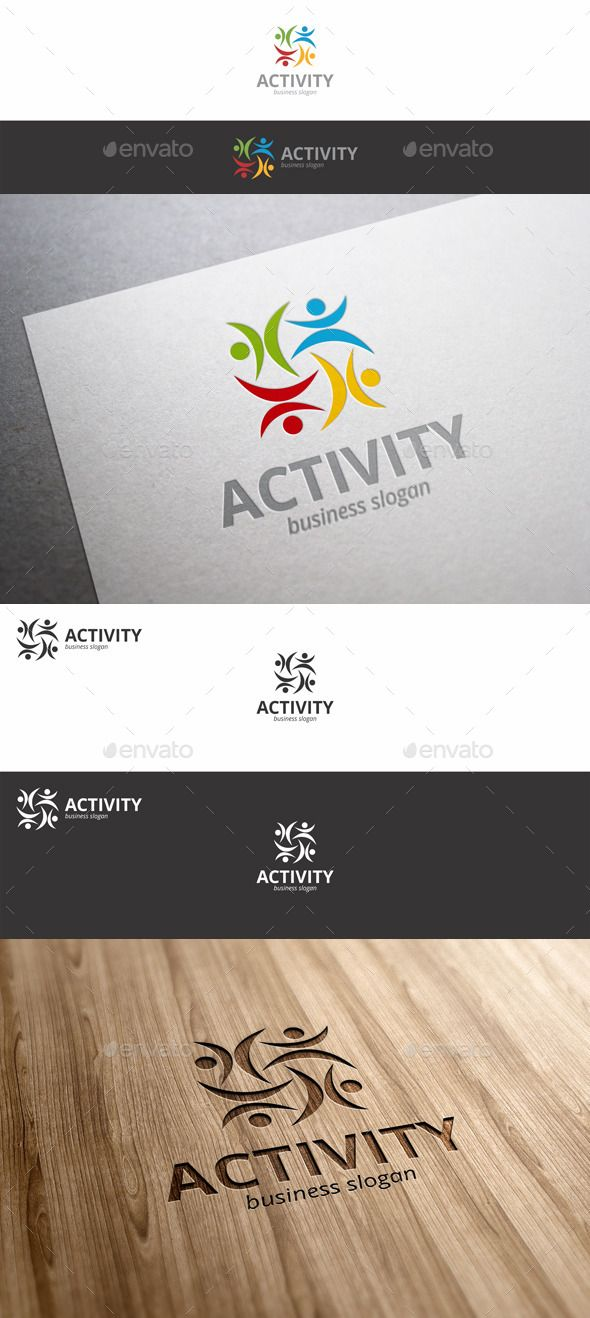 Activity Fitness Human Symbol Logo People Activity Fitness Humans Symbol Logo – Activities & Leisure Logo – This logo perfectly used for any sport related businesses and sport event. Ideal for fitness, GYM, sport wear, wellness, yoga, entertainment, social business, network, healthy eating, healthy nutrition, spa salon, medical business, any health business, and many more.