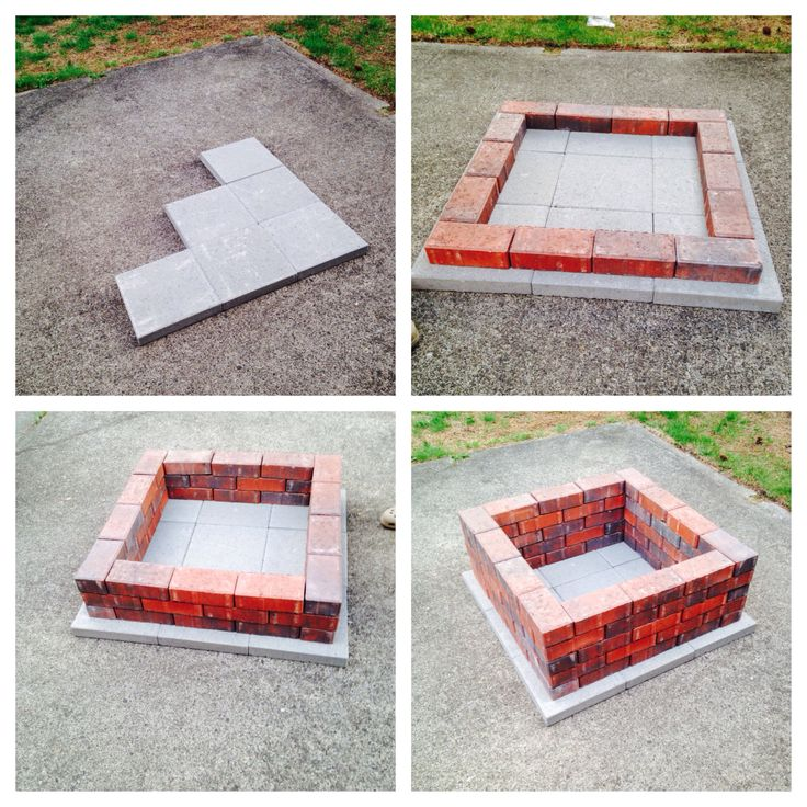 1000 images about backyard inspiration on pinterest for How to make a square fire pit