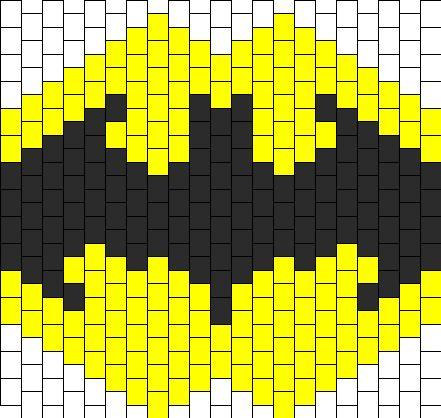 Batman Mask Bead Pattern | Peyote Bead Patterns | Characters Bead Patterns