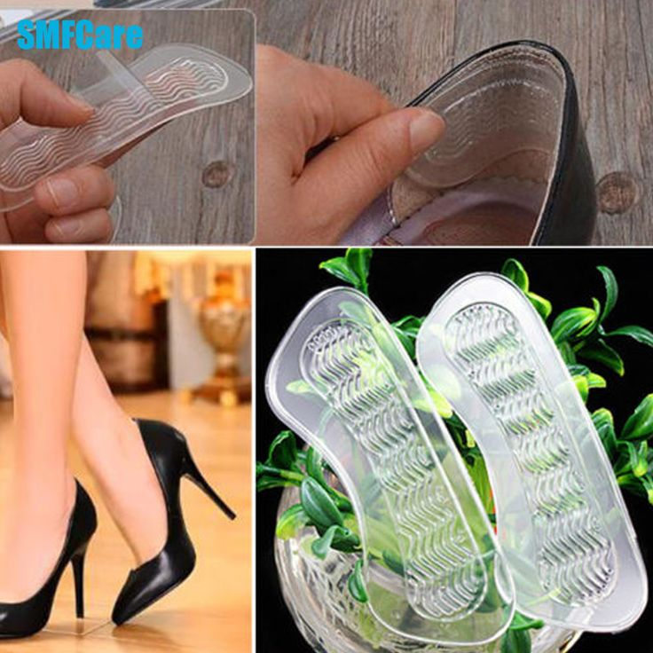 1Pair Rearfoot Invisible Silica Gel Anti-Slip High Heel Shoes Cushions Gel Heel Back liner Dance Shoes Silicone Insoles Z05701 ** View the item in details by clicking the VISIT button