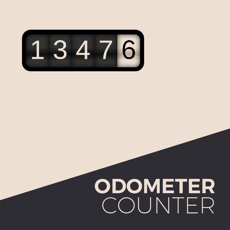 Odometer widget for Adobe Muse #odometer #free #widget #AdobeMuse