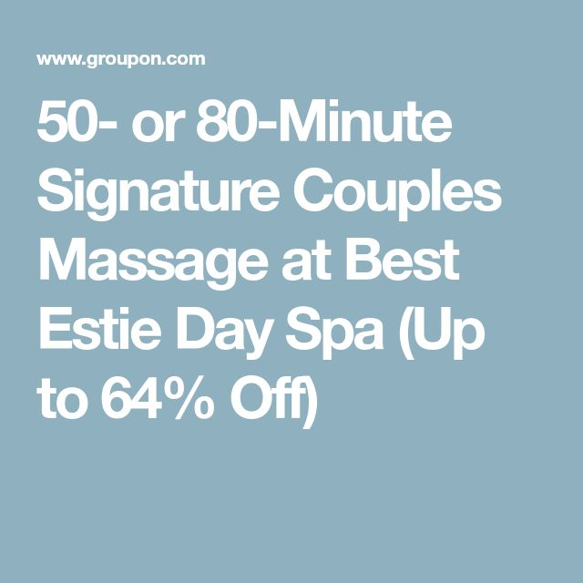 50- or 80-Minute Signature Couples Massage at Best Estie Day Spa (Up to 64% Off)