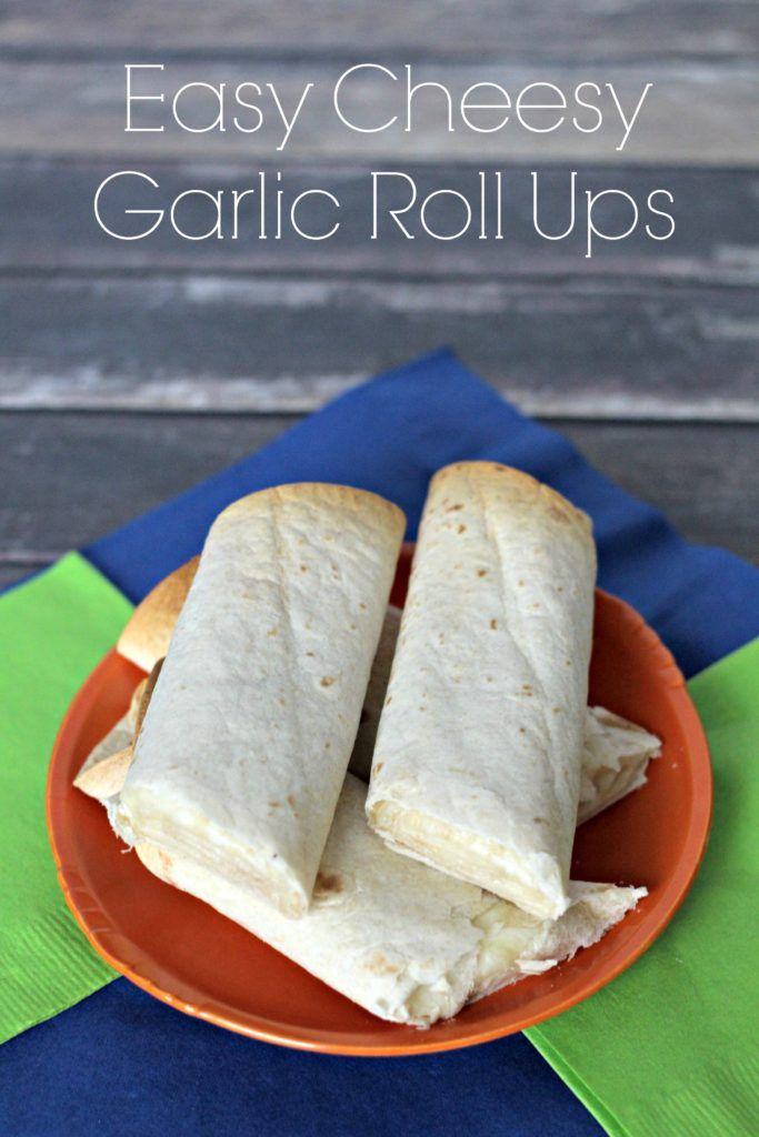 Cheesy garlic roll ups in minutes! It's the perfect side or appetizer to pair with spaghetti, eggplant parmesan, lasagna, or even meatballs!