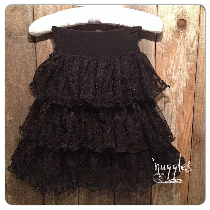 Classic Black Lace Skirt www.nugglesboutique.com