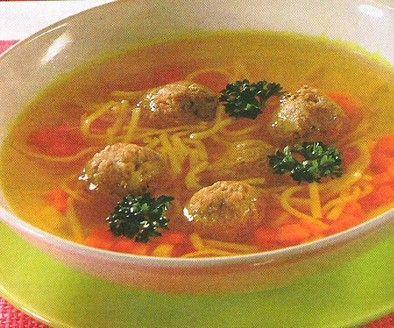 Domácí nudlová polévka