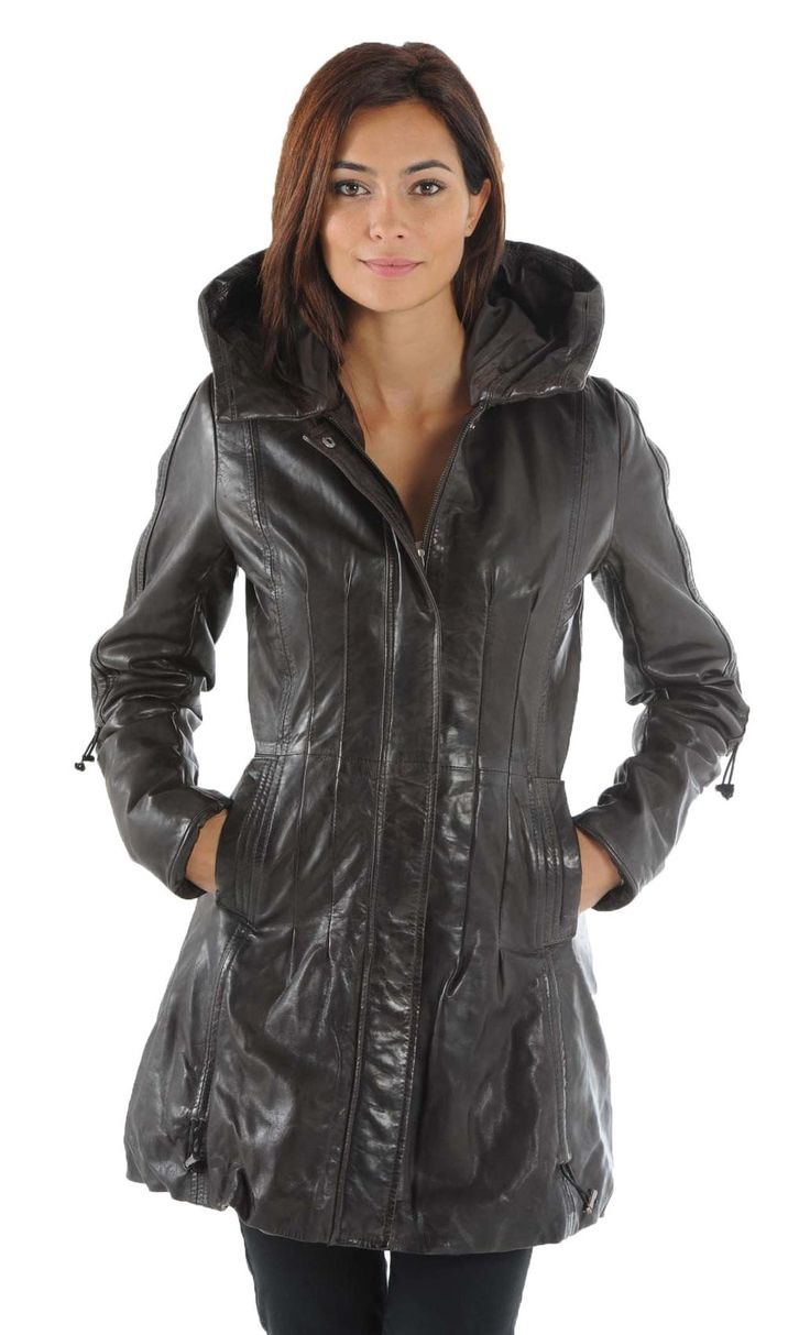 Vêtement en cuir Trois quart / trench CUIRS GUIGNARD noir