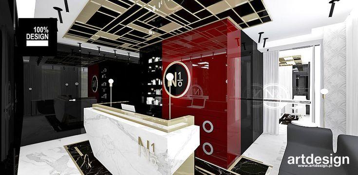 No1 | Studio Urody | Projekt recepcji w salonie fryzjersko-kosmetycznym