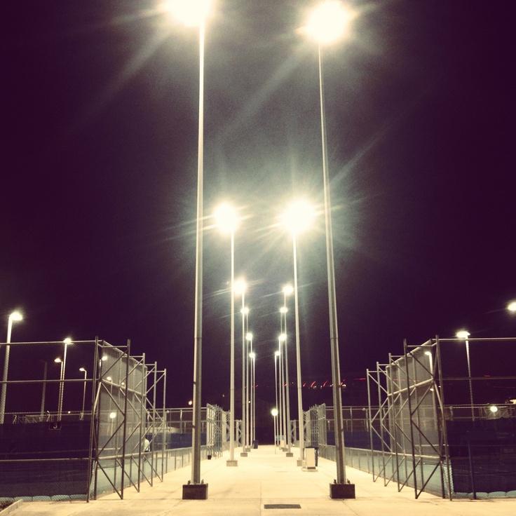 Tennis court lights
