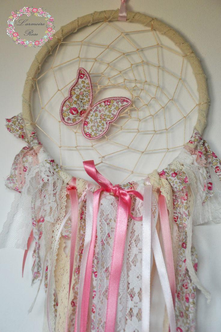 Attrape rêve liberty eloise rose : Chambre d'enfant, de bébé par l-armoire-rose