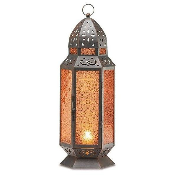 2 Large Glass Tall Moroccan Lanterns Candle Holder [Misc.]:... ($240) ❤ liked on Polyvore featuring home, home decor, candles & candleholders, moroccan home accessories, glass candlestick holders, glass candle stick holders, glass candle holders and moroccan style home decor