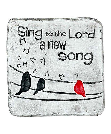 Bird Sing to the Lord a New Song Garden Plaque   zulily